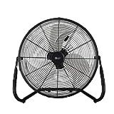 Comfort Zone CZHV18BK Quiet 18-inch 3-Speed High-Velocity Fan with Adjustable Tilt