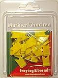Pin Fähnchen gelb: 30 Stk. Packung, 32 mm Stecklänge (freytag & berndt Bücher + Specials)