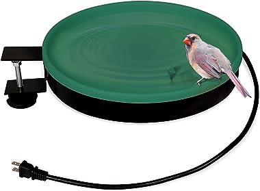 vantiorango Upgraded Heated Birdbath for Outdoor, 14 Inch All Season Heated Bird Bath Deck Bowl with 3 Way to Mount, Metal St