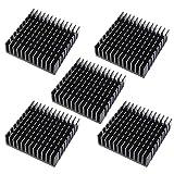 5 x Schwarz Aluminium Kühlkörper Heizkörper Heatsink Kühlung Kühler Fin
