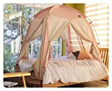 DDASUMI Fabric(Cotton Feeling) Signature Indoor Tent (Single Bed, Mint) - 4Doors, Prevent Coldness, Play Tent