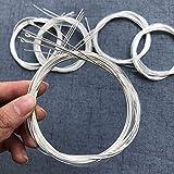 Juego de 6 cuerdas de nailon transparente para guitarra clásica y cobre chapado en plata