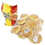 ハンバーガー バンズ&パティ(ビーフ)セット (オレンジベイフーズ100%ビーフパティ10枚&ビックバーガー バンズ12PC)【冷凍】