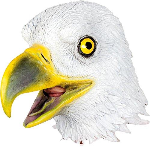 Ciao 21192–Maske Adler aus Latex, Weiß