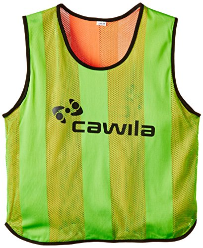 Cawila Trainingsleibchen - Canotta d'identificazione, Verde (Verde/Arancione), Adulto