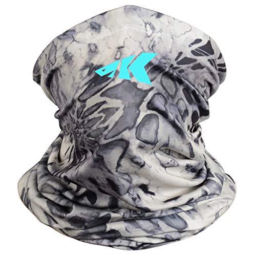 KastKing Kids Neck Gaiter - UPF 50 Kids Face Mask, Silver Mist