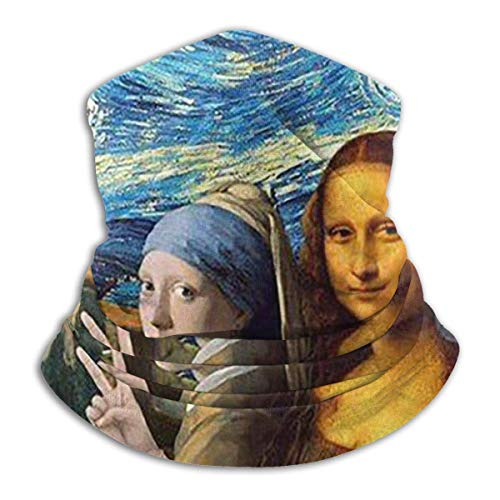 N / A Tough Headwear,Tube Scarf,Mona Lisa Self Timer Outdoor Sports Neck Warmer Headband Bandana Balaclava