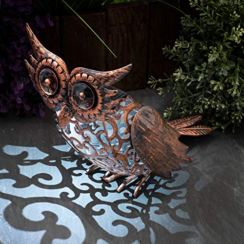 GloBrite Garden Solar Owl Bird Silhouette Light Garden LED Light Figure Ornament