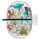 Cartoon Sealife Octopus Shark Fisch und Schildkröte ändern Baby Mat waschbar Wickelauflage 27 x 10 Zoll wasserdicht faltbare Matte Baby tragbare Wickelstation Wickelauflagen