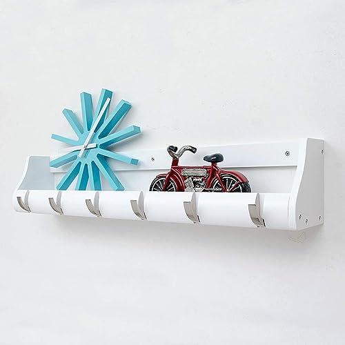 CCF Multifunktionale Kombination Regal - Kleiderst er Schlafzimmer Massivholz Wand Haken Wohnzimmer Storage Hanger CCFSF (Farbe   Weiß Größe   76.5  13.5  14.5CM)