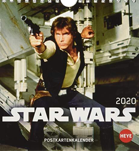 Star Wars Postkartenkalender. Postkartenkalender 2020. Monatskalendarium. Spiralbindung. Format 16 x 17 cm