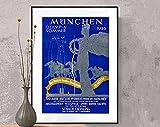 AZSTEEL München Olympia Sommer, 1936 Germany Vintage Ski