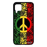 Coque pour P40 Lite en Silicone Peace and Love Reggae Yoga & Paix et Amour Unique Ragga Hippie...