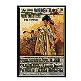 HJZBJZ Vintage Barcelona España 1935 Corrida Cartel Pintura Arte Cartel impresión Lienzo decoración del hogar Imagen impresión de pared-50X70 CM sin Marco 1 Uds