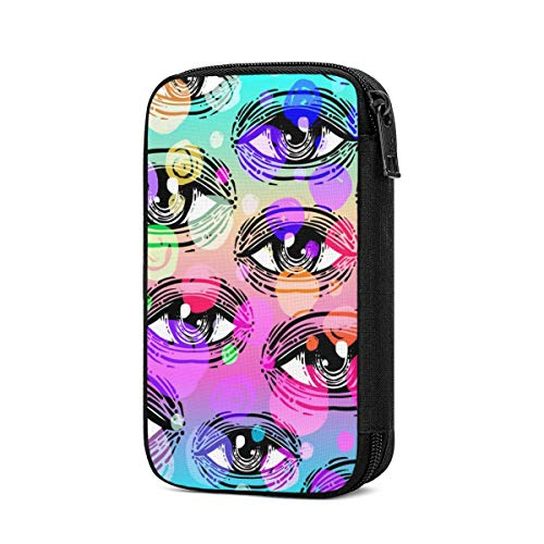 Electronic Organizer Cool Eyes Halloween Travel Universal Cable Organizer Electronics Accessories Cases Gadgets Bag Cord Storage Bag for Cable, Charger, Phone, USB, SD Card