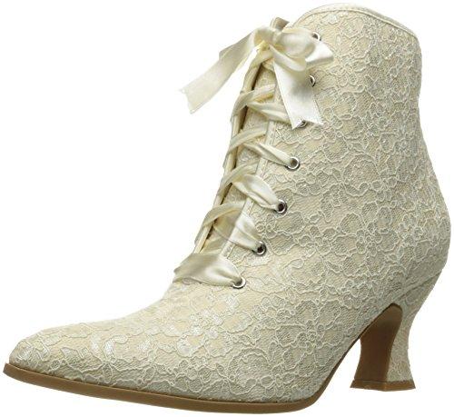 Ellie Shoes Women's 253-elizabeth Ankle Bootie, White, 7 M US