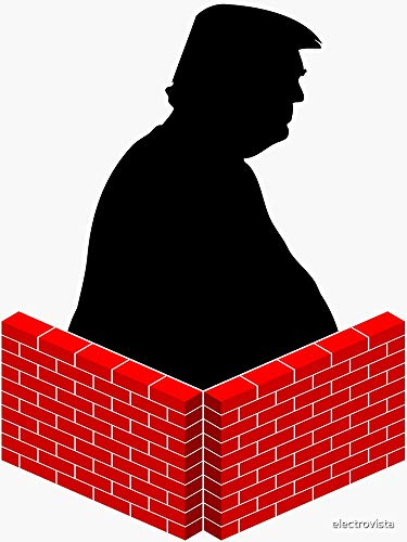 Build a Wall Around Trump - Sticker Graphic -Stickers for Hydroflask Water Bottles Laptop Computer Skateboard, Waterproof Decal Stickers