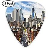 Púas de guitarra Paquete de 12, Bajo Manhattan Paisaje urbano Destino de viaje famoso Avenida de Nueva York Histórico