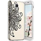 Robinsoni Compatible avec Samsung Galaxy S4 Coque en Silicone Transparente Motif Mandala Fleur Jolie...