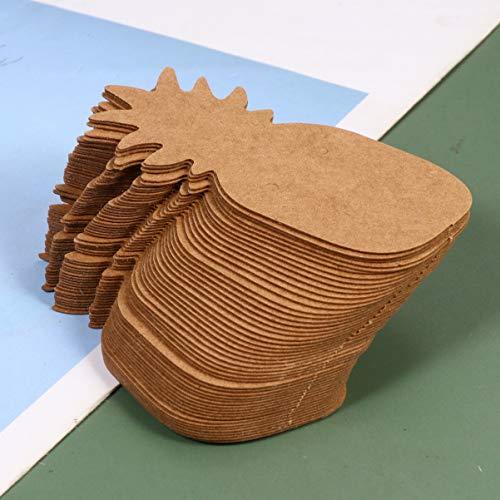Artibetter 300 Pièces Boucle D  Oreille Titulaire Cartes Ananas en Forme Kraft Papier Boucle D  Oreille Affichage Tag Bijoux Affichage Cartes pour Boucles D  Oreilles Oreille Goujons