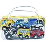 Vkospy 6pcs / Set Mini Toy Cars Tira del Coche Set de Juegos Camiones Vehículos bebés de los niños Muchachos de los niños del Partido de Dibujos Animados de cumpleaños Juguetes de Navidad