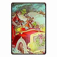 サンタクロース金属壁サインレトロプラークポスターヴィンテージ鉄シート絵画装飾ぶら下げアートワーク工芸カフェビールバー