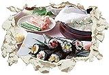 Unified Distribution Sushi selbst gemacht - Wandtattoo mit 3D Effekt, Aufkleber für Wände und...