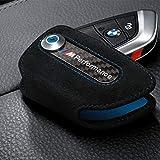 Funda para llaves con representación original de BMW M hecha de Alcantara.