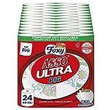 Foxy Asso Ultra Big| Secador Vortici Super-absorbentes | 24 rollos | 3 capas | Ultra-Absorbentes y Ultra-resistentes | Papel 100% certificado FSC | Decorado | Paquete 100% reciclable