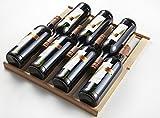 KRC-45BSS Kompressor Weinkühlschrank, 120 Liter, 45 Flaschen (bis zu 310 mm Höhe), 2 Zonen 5-10°C/10-18°C, 7 Holz-Einschübe, LED-Display, Edelstahl Glastür - 4