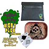 NightPack Smell Proof Bag | Premium Quality Scent Proof Bag | Secret Stash Bag Cannabis Accessories Kit for Discreet Smokers Bundle Party Pack