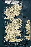 Game Of Thrones Juego de Tronos Map Póster Multicolor