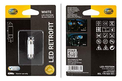 HELLA 8GL 178 560-551 Glühlampe - LED - LED Retrofit - 12V/1W - Blisterpack - Menge: 1
