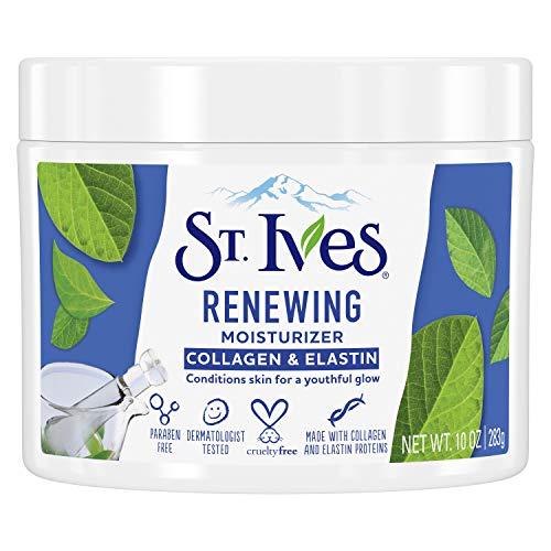 St Ives Crema hidratante facial de colágeno de piel atemporal 10 onzas
