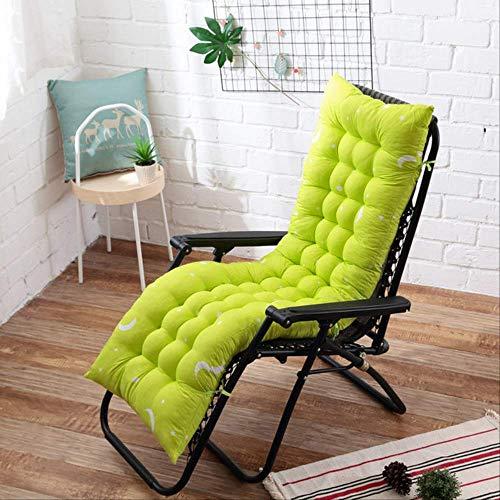 NoNo Kussen, zitting, ligstoel, schommelstoel, mat, dik, rotan, stoelkussen, tuin, kussen, lange kussens 48x125cm grasgroen