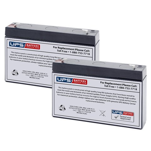 UPSBatteryCenter SLA Compatible Battery for SPS SG0670T1 6V 7Ah F1