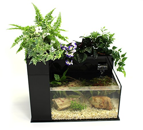 Fin to Flower Aquaponics Aquarium - Large System C (Black)