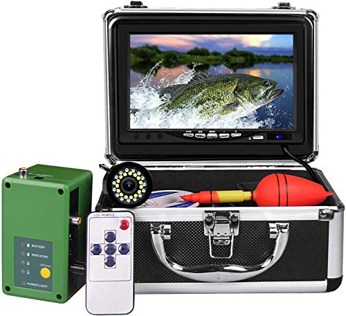 okk Unterwasser-Angelkamera, tragbarer Eisfischfinder mit 30 einstellbaren LEDs und 7-Zoll-1080P-IPS-Monitor mit DVR 16 GB SD-Karte Angelvideokamera für EIS, See, Boot, Meer (30M)
