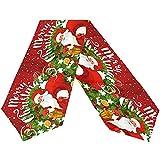 sunnee-shop Pfrewn Feliz Navidad Papá Noel Camino de Mesa Largo, Copo de Nieve Muñeco de Nieve Invie...