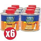 CEYS - Pack Cola de contacto con pincel Contactceys super resistente (6 botes de 500ml)