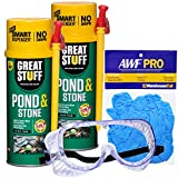 AWarehouseFull Great Stuff Pond & Stone Sealant/Adhesive Kit, 2x12 oz Smart Dispenser Great Stuff Pond & Stone...