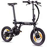 CHRISSON 16 Zoll E-Bike Klapprad ERTOS 16 schwarz