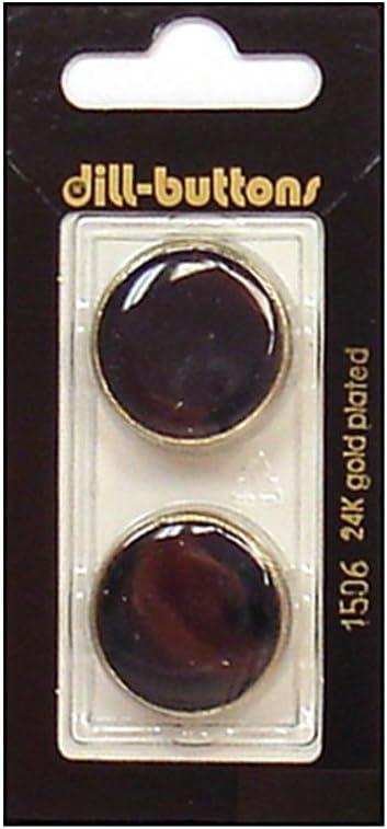 Dill Buttons Under blast sales 23mm 2pc Enamel Gold Denver Mall Shank Navy