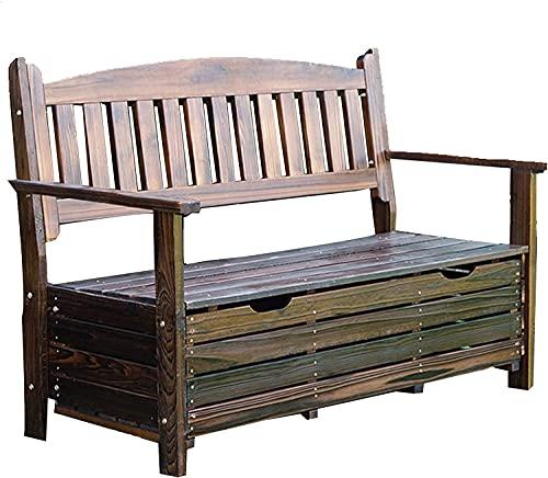 wsbdking Outdoor Garden Lounge stoelen met opbergdozen, terras park banken met rugleuningen en armleuningen, twee-zits binnenplaats balkon banken, buitenzware weerbestendige corridor stoelen,