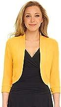 Women Short Half Sleeve Tops Solid Mini Office Work Cardigan Causal Plus Coat
