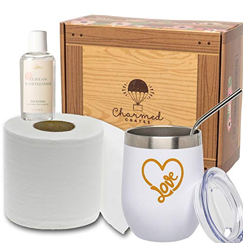 Quarantine Gift Basket Care Package - Spice Up Her Special Day with Some Humor Quarantine Survival Kit