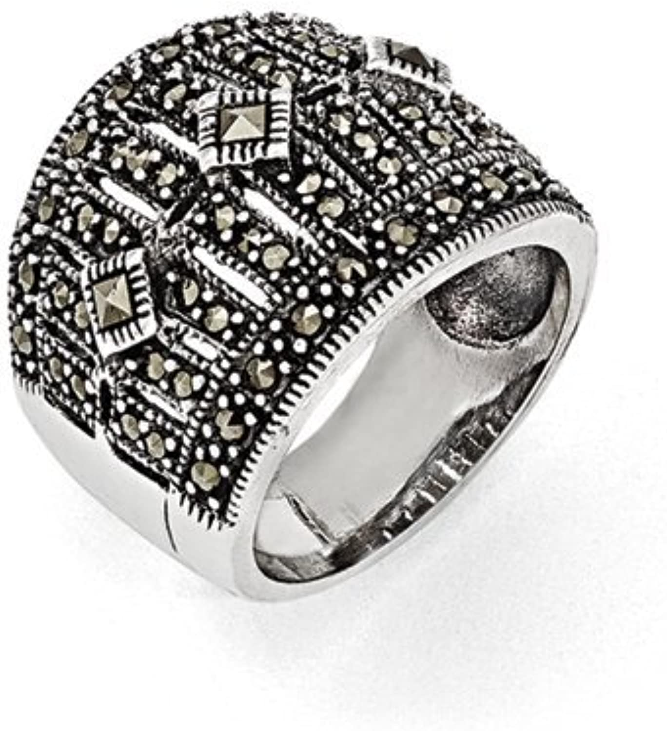 gold and Watches Sterling Silver Marcasite Ring