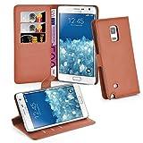 Cadorabo Hülle kompatibel mit Samsung Galaxy Note Edge Hülle in Schoko BRAUN Handyhülle mit Kartenfach & Standfunktion Schutzhülle Etui Tasche