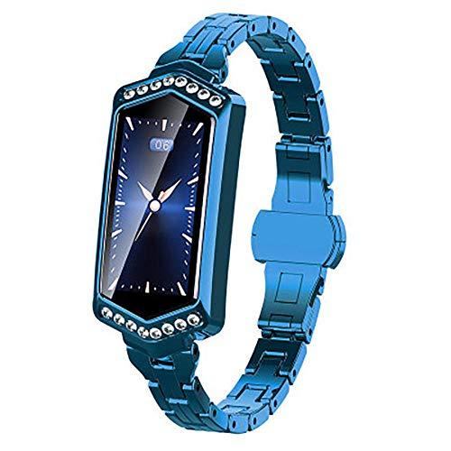 Reloj de pulsera de actividad_Femenino inteligente de frecuencia cardíaca de la presión arterial recordatorio GPS pasos deportivos calorías reloj púrpura Fitness Tracker watch-B