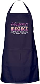 CafePress Happiness Massage Kitchen Apron with Pockets, Grilling Apron, Baking Apron